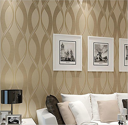 H M Wallpaper Thicker Modern Simple 3d Stereo Stripes Solid Color Non Woven Decoration Living Room Restaurant Tv Wall Bedroom Wallpaper 53cm W 10m L Buy Online In Honduras H M Wallpaper Products
