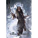 Pirates of the Caribbean Captain Jack Sparrow Johnny Depp Movie Foil Poster 24 x 36 inches