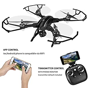 BUY ONE GET ONE Drone With Camera Live Video, TOQIBO X34 FPV RC Drone with 120° Wide-angle 720P HD Wi-Fi Camera Foldable Drone RTF - Altitude Hold, One Key Take Off/Landing, 3D Flip, APP Control from TOQIBO