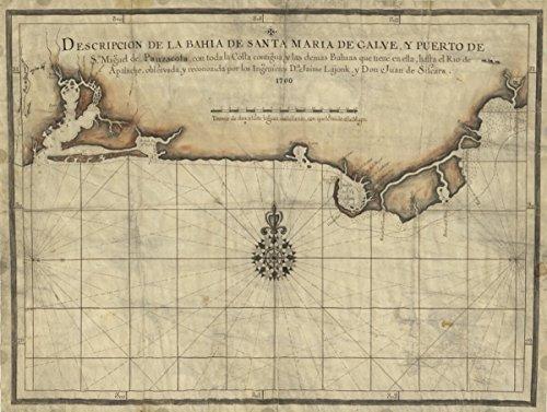 Map: 1700 Descripcion de la Bahia de Santa Maria de Galve, y Puerto de Sn. Miguel de Panzacola con toda la costa contigua y las demas bahias que tiene en - Costa Online Coupons