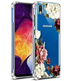 Galaxy A10E Case, Galaxy A10E Phone Case with Flowers, Ueokeird Slim Shockproof Clear Floral Pattern Soft Flexible TPU Back Phone Protective Cover for Samsung Galaxy A10E (Blossom Flower)
