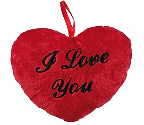 Tendeus 4029811145881 - Corazon cojin de peluche i love you rojo 26 cms