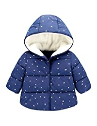 Toddler Kids Warm Outerwear Jackets Coats Baby Cotton Padded Hood Down Jacket