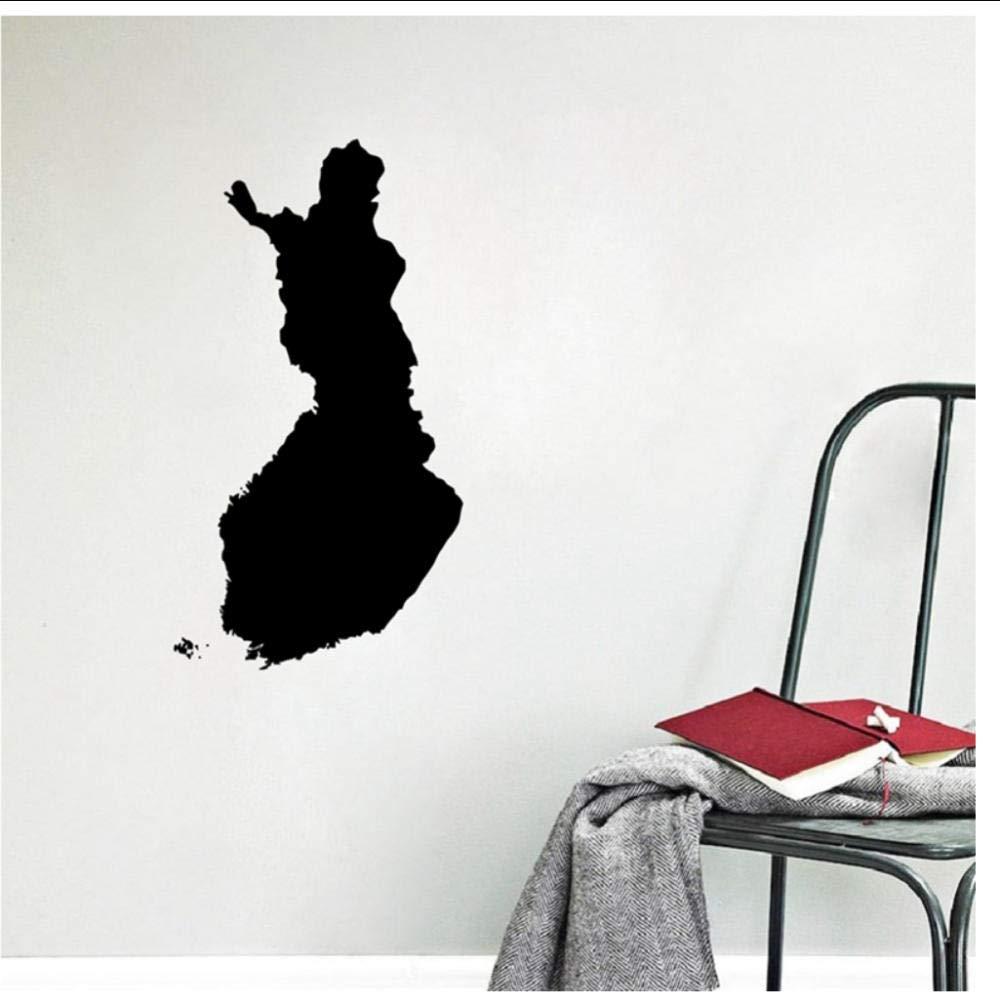 Mapa de Finlandia Tatuajes de arte de pared Decoración de ...