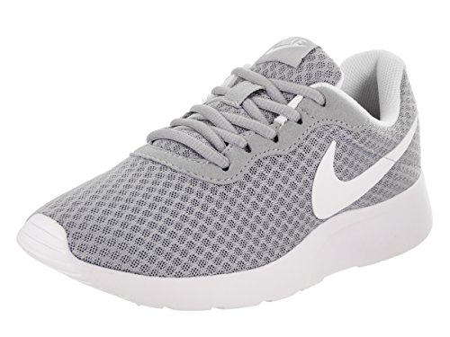 Nike Womens Tanjun Running Sneaker Wolf Grey/White 9 (9 Sneakers)