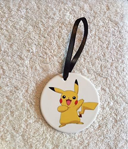 (Pokemon Pikachu Christmas Ornament~ Yellow ~Porcelain~Pokemon)