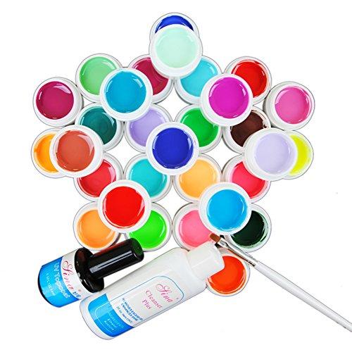 Coscelia Solid 30 Color UV Gel Nail Art Polish Cleanser Plus