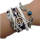Reliques de la mort Chouette mort vif Harry Potter Bracelet