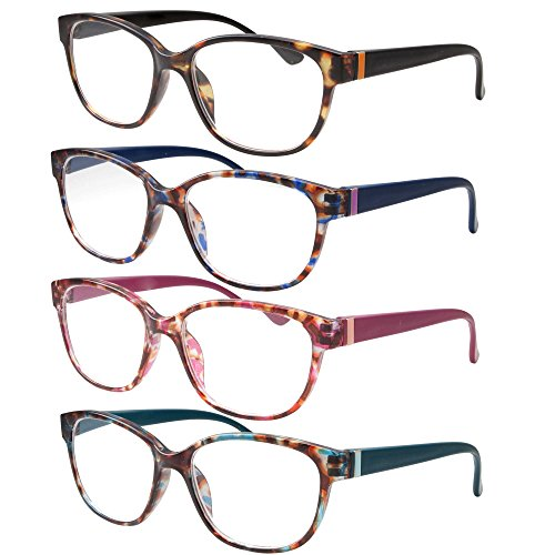 4 Pairs High Magnification Power Womens Reading Glasses - Ca