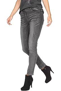 Aniston romantische Jeans-Hose mit Blumen Stickerei Sommerhose Hose ... 91b02798c1