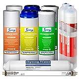 iSpring 7-Stage Alkaline Mineral UV RO System 1-Year Supply Filter Pack #F10KU, Fits RCC7AK-UV RCC1UP-AK, white, 10 Piece