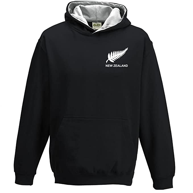 Niños Retro New Zealand Rugby - Sudadera con capucha para mujer: Amazon.es: Ropa y accesorios