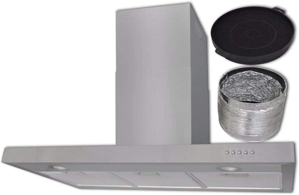 vidaXL Campana extractora Plana Acero Inoxidable 900 mm: Amazon.es: Grandes electrodomésticos