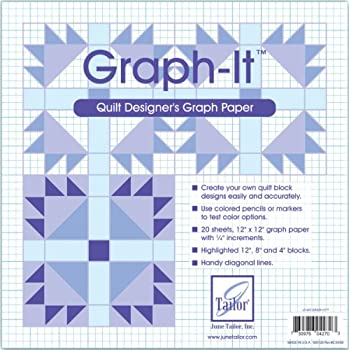 amazon com june tailor graph it graph paper 12 by 12 inch 20 per