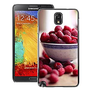 Snap-on Series Teléfono Carcasa Funda Case Caso para Samsung Note 3 N9000 , ( Raspberry Bowl )