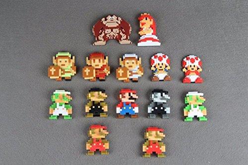 "Toy, Play, Fun, Original Super Mario Bros 2.5"" 8 Bit Mario Donkey Kong Luigi Action Figure, Children, Kids, Game"