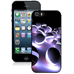 Beautiful Unique Designed iPhone 5S Phone Case With Light Spheres Orbs_Black Phone Case