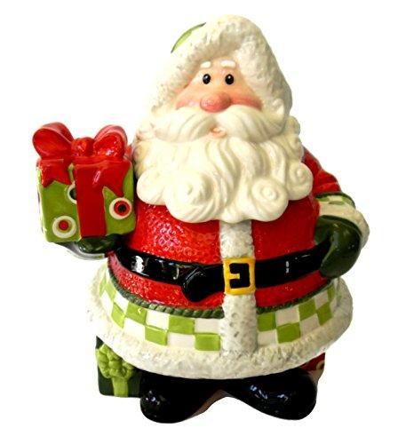 Santa Cookie Jar Claus (Fitz and Floyd Holiday Cheer Cookie Jar)