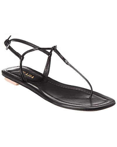 4d58bd23232f Image Unavailable. Image not available for. Color  Prada Patent Thong Sandal