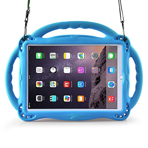 BMOUO Kids Case for New iPad 9.7 inch 2017/2018 - Shoulder Strap Shockproof Handle Stand Case for iPad 9.7 inch 2017/iPad 9.7 inch 2018/iPad Air/iPad Air 2 - Blue by BMOUO (Image #8)