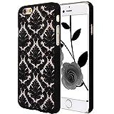 iPhone 5 SE Case, ARSUE (TM) Ultra Thin Case, Damask Vintage Pattern Slim Hard Case For iPhone 5 SE (Black)