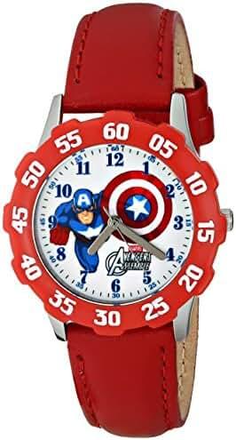 Marvel Kids' W001554 Tween The Avengers Captain America Analog Display Analog Quartz Red Watch