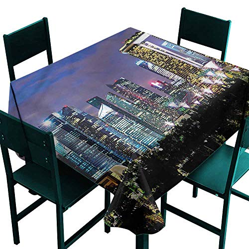 DONEECKL Oil-Proof and Leak-Proof Tablecloth Travel Singapore City