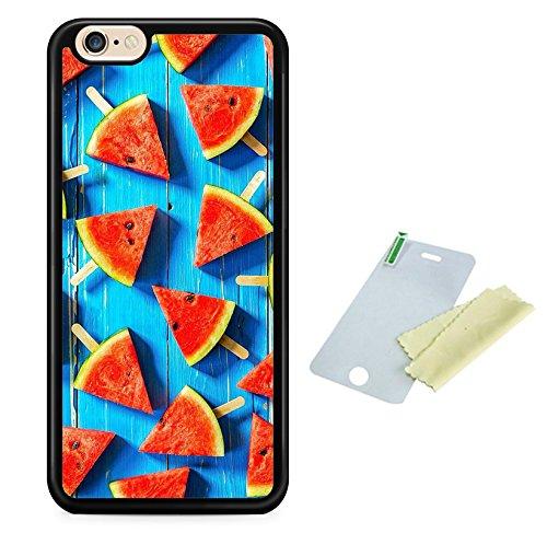 Coque silicone BUMPER souple IPHONE 4/4s -Pasteque watermelon fruit SWAG mignon motif 1 DESIGN case+ Film de protection OFFERT