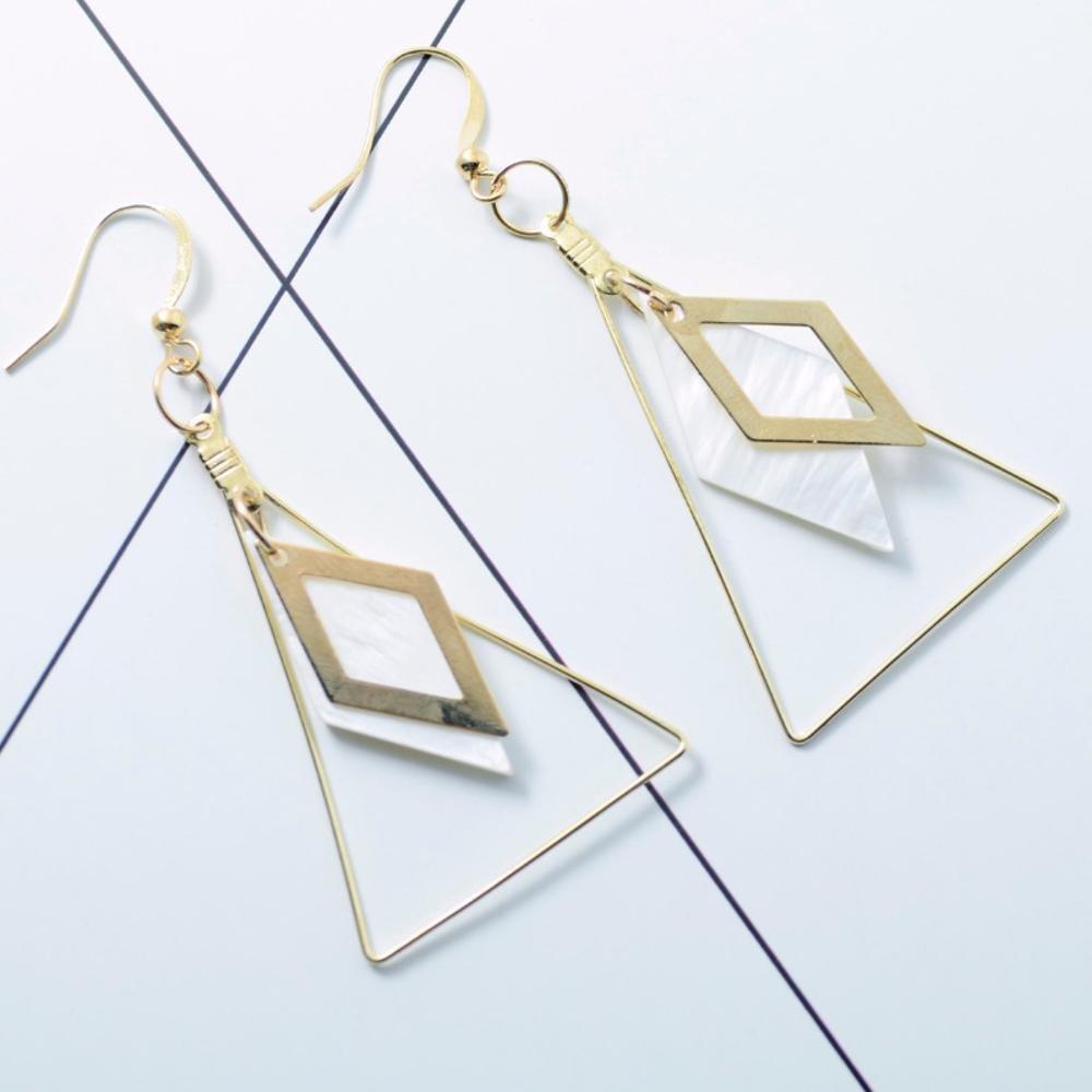 Maerye Triangle百女性ピアスイヤリング   B07DTJHDNX