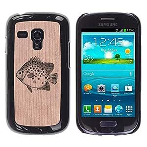 Funda Cubierta Madera de cereza Duro PC Teléfono Estuche / Hard Case for Samsung Galaxy S3 MINI 8190 / Phone Case TECELL Store / Peces Pesca Catch Naturaleza Fish Fishing Catch Nature