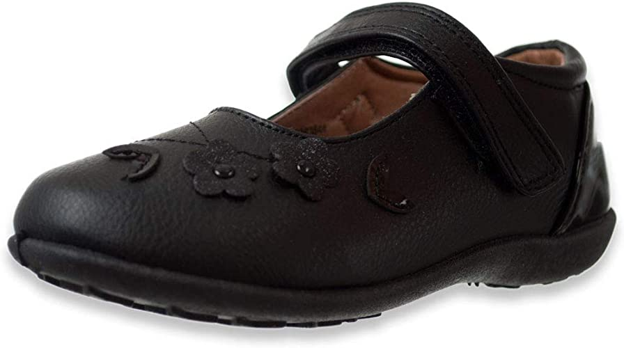 Angels Girls/' Floating Petal Mary Jane School Shoes Sizes 6-12