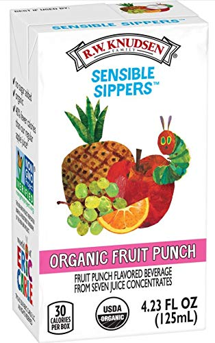 R.W. Knudsen Family Sensible Sippers Fruit Punch Juice Box, 8-Count (Pack of 5),Packaging May Vary