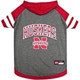 Nebraska Huskers Pet Hoodie T-Shirt - Small