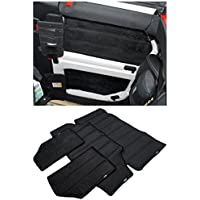 FMtoppeak 4 Pcs Black Hardtop Sound Deadener & Insulation for 4 door 2012-2017 Jeep Wrangler Soft Top Headliner