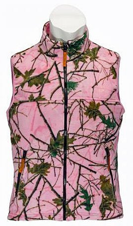 TrailCrest Womens Outdoor Camo Hunting/Everyday Vest (Pink Forest, M) (Pink Camo Vest Women)