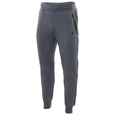 Nike Mens Air Jordan Lite Fleece Jogger Pants Cool Grey/Black (Large)