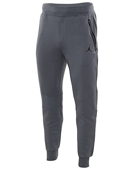 Nike Mens Air Jordan Lite Fleece Jogger Pants Cool Grey/Black (Large)