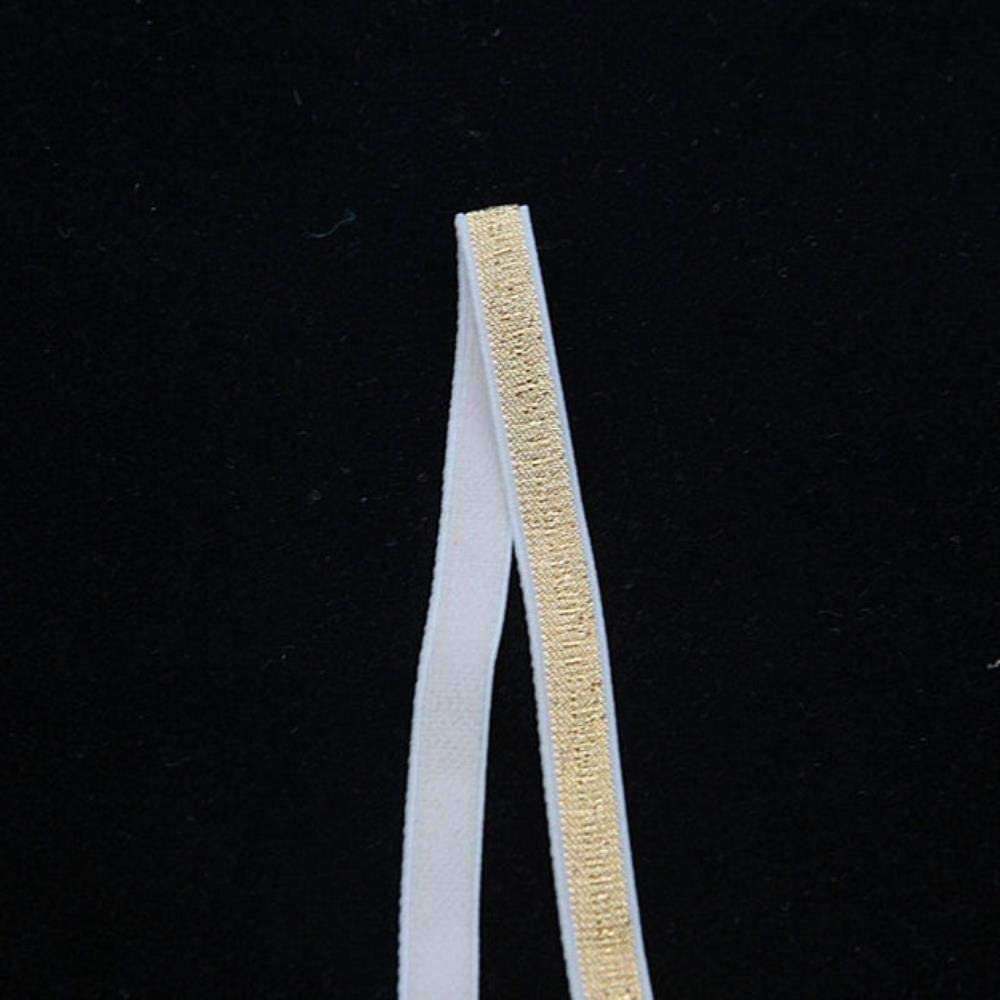 10 mm QINQ 4M Glitter Bandas el/ásticas Cuerda Banda de Goma L/ínea Cinta Costura Costura Recorte Cintura Accesorio de Prenda Brillo Negro