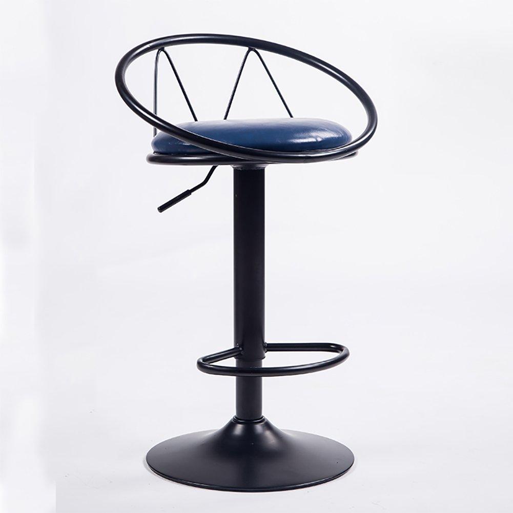 Mesurn JP ブラックモダン調節可能な高さのバースツール、360度回転、PUレザーチェア (色 : 4, サイズ さいず : 38 cm 38 cm) B07D8TWRT2 38 cm 38 cm 4 4 38 cm 38 cm