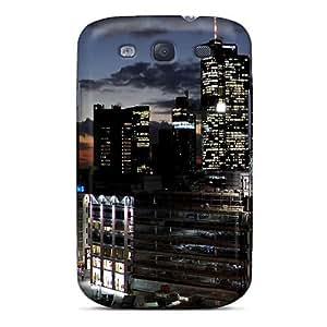 Cute Appearance Cover/tpu UZpXLhj4268doMCQ Frankfurt Big Buildings Case For Galaxy S3