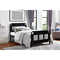 Mainstays Fairview Bed with Storage, Twin, Black Metal