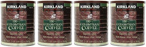 Kirkland 100% Colombian Coffee Supremo Bean Dark Roast-Fine Grind, 12 LBS by Kirkland