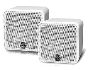 Pyle PCB4WT 100W Blanco altavoz - Altavoces (2.0 canales, Alámbrico, 100 W, 80 - 18000 Hz, 8 Ω, Blanco)