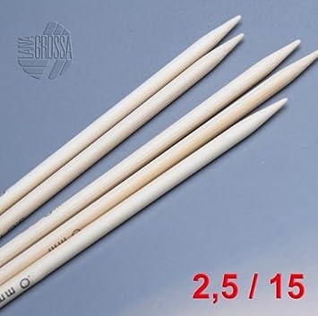 Wolle Kreativ 60 cm//3,5 mm Rundstricknadel Bambus Lana Grossa