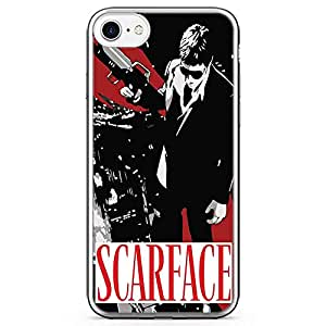 Loud Universe Scarface Movie iPhone 7 Case Movie Poster Scarface iPhone 7 Cover with Transparent Edges