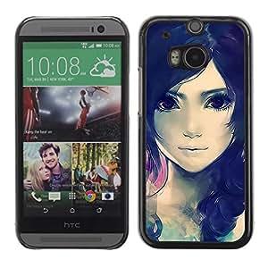 Be Good Phone Accessory // Dura Cáscara cubierta Protectora Caso Carcasa Funda de Protección para HTC One M8 // Cute Beautiful Anime Girl