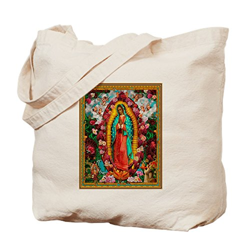 CafePress Our Lady Of Guadalupe Natural Canvas Tote Bag, Cloth Shopping Bag