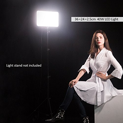 VILTROX VL-400T 40W/2900LM Ultra Thin Bi-Color LED Video Light, Photo Studio lighting Photography LED Lamp Panel for DSLR Cameras and Camcorders, Color Temperature 5600K~3300K by VILTROX