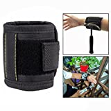 OFKPO Magnetic Wristband With Strong Magnets For Holding Tools, Screws, Drilling Bits, Screws pouch Magnetic Wristband With 5 Strong Magnets