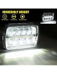 AAIWA Faro LED de repuesto con faros de estacionamiento DRL para camión H6052 H6053 H6054 H6014 Jeep Wrangler JK